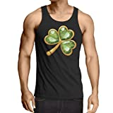 Weste Irish shamrock St Patricks day clothing (Medium Schwarz Mehrfarben)