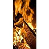 Textilbanner - Thema: Kalte Jahreszeit - Holzfeuer - 180cmx90cm - Banner zum Hängen & Dekorieren