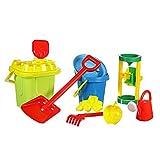 Großes Kinder Strand-Spielzeug Sandspielset für Sandburgen inkl Sand- & Wassermühle perfekt für Sandkasten & Urlaub
