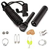 XL Feuerstahl mit Survival Kit - Feuerstarter Feuerstein Firestarter Flint Rod von The Friendly Swede
