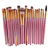 RenZhenDian 20 Stück Make up Pinsel Tools Make up Körperpflege Set Wolle Make up Pinsel Set (Gold 3)