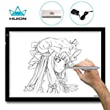 Leuchttisch A3 Huion Leuchtkasten 48 x 36 cm Dimmbarer Einstellbare Helligkeit Handwerk Tracing Animations Tattoo Quilting LED-Leuchttisch Lichtkasten