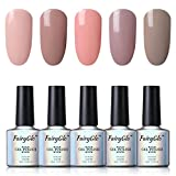 UV nagellack Fairyglo shellac set Nail Gel Polish soak off Nagelgel Nail Art nudefarbe,5 Farbe 10ml Kit