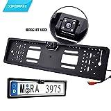 JORSHAKE 4 LED Rückfahrkamera Nummernschildhalter Nachtsicht / Rückfahrkamera Nummernschild IP68