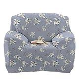Stretch Loveseat Cover - Sofa Covers Slipcover Sofa - 1-Stück 1 2 3 4 Seater Furniture Protector Polyester Spandex Stoff Slipcover mit einer Kissenbezug für Kinder und Haustiere Schwarz