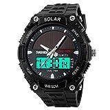 Hiwatch Digital Herren Quarz Sonnenenergie militärische LED Sportuhr 5ATM wasserdichte Outdoor Uhren für Männer