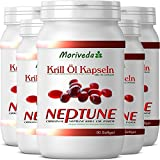 Krillöl Kapseln 450, 100% reines NEPTUNE Premium Krill Öl - Omega 3,6,9 Astaxanthin, Phospholipide, Choline, Vitamin-E - Markenqualität von MoriVeda (5x90)