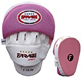 Farabi Curved Focus Pads, Hook & Jab Mitts, Boxing Training Pads (Pink)