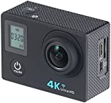 Somikon Actioncam 4K: Einsteiger-4K-Action-Cam mit 2 Displays, Full HD bei 60 B./Sek., IP68 (4K Kamera)