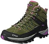 CMP Damen Rigel 3Q12946, Trekking- & Wanderhalbschuhe, Grün (Olive-Hot Pink), 38 EU