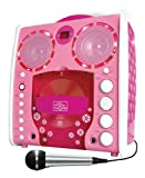 Singing Machine SML-383 Tragbarer CDG Karaoke-Player und 3 CD+Gs Party Packet rose