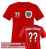 TRIKOT - AT - WUNSCHDRUCK - Kinder T-Shirt - Rot / Weiss-Schwarz Gr. 134-146