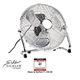 Sichler Haushaltsgeräte Windmaschine: Vollmetall-Bodenventilator VT-235.B, 50 W, 30 cm (Boden Ventilator)