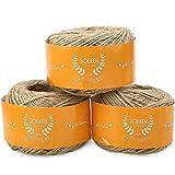 SOLEDI Juteschnur Jute Tau Seil für Hochzeitskarten Geschenkverpackung Deko Scrapbooking Basteln und Floristik (3)