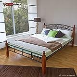 Homestyle4u Metallbett Bett Doppelbett 160 x 200 + Lattenrost Bettgestell 916 schwarz