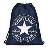 Converse Unisex Turnbeutel Sport Freizeit Tasche Gym Bag Big Logo Chinch Navy (blau)