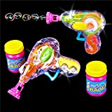 German Trendseller® - Magic Seifenblasen Pistole LED ┃ Light UP ┃ Mitgebsel ┃ Kindergeburtstag ┃ Bubble Gun für Kinder