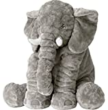 KiKa Monkey Baby-weiches Plüsch-Elefant Schlafkissen Kids Lendenkissen Spielzeug Large Size (Klein, Grau)