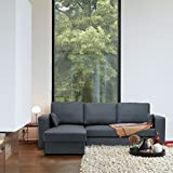 Neubrugge Sofa mit Longchair links - anthrazit