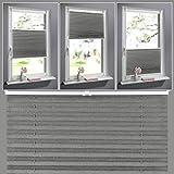 SHINY HOME Plissee Jalousien Rollo Sonnenschutzrollo ohne Bohren für Fenster Tür 60x130cm Vorhänge Seitenzugrollo Klemmfix mit Klemmträger (Kaffee)