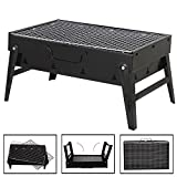 Uten® Mini Camping BBQ Outdoor-Tischgrills Babecue Klappbarer Klappgrill Faltgrill Faltbarer Picknick Grill