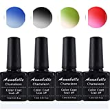 Annabelle Thermo Nagellack UV Nagellack Soak Off UV Gel Nagellack Nail Art Top Coat Base Coat 7.3ml (7.3ml/pc Lot de 4) 072