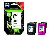 HP 300 Multipack Original Druckerpatronen (1x Schwarz, 1x Farbe) für HP Deskjet, HP ENVY, HP Photosmart