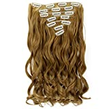 Neverland Beauty 22 'Full-Kopf-Klipp in den Haar-Verlangerungen Ombre Wavy Curly Dip Dye 7Pcs 16 Clips Hair Extensions Hairpiece Honey Blonde