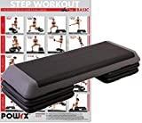 Steppbrett PROFI XXL Fitness Set Aerobic Stepbench 110 x 42 cm (Steppbrett)