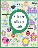 Sticker Album Kids: Blank Sticker Book, 8 x 10, 64 Pages
