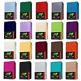 TOPPER Jersey Spannbettlaken BOXSPRING BETT Spannbetttuch in Farbe: Anthrazit-Grau, Größe: 180 x 200 cm