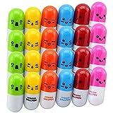 TXY 24x Mini Kapsel Pillen Kugelschreiber Ausziehbar Einweg-Kugelschreiber mit 6 Farben Druckkugelschreiber Bürobedarf Schreibwaren Stifte