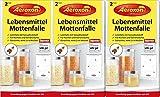 AEROXON Lebensmittelmottenfalle - Dreierpack = 3x2 Fallen