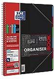 OXFORD 400037404 Organiserbook Studium Digitaler Collegeblock A4 liniert 80 Blatt - Zufallsfarbe, kein Farbwunsch möglich