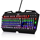 Tastatur Beleuchtet KingTop Mechanisches Gaming Keyboard 105 Tasten 9 LED Effekte , QWERTZ Layout