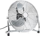 Sichler Haushaltsgeräte Windmaschine: Vollmetall-Bodenventilator VT-341.B, 105 W, 45 cm (Chromventilator)