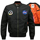 YYZYY Herren Classic Herbst Winter Dick Warm Gefechtsabzeichen Bomberjacke Air Force patches Bomber Jacken Mäntel 9Farbe XS-6XL (EU/DE XXX-Large, 1688/Marineblau)