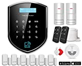 Tristan Auron Alarmanlage Shield Guardian Kit V Wifi Funk App RFID GSM Tür/Fenster-Sensor Bewegungsmelder Smart Home