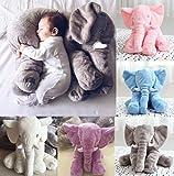 Baby Elefant Plüsch Kissen Spielzeug Schlafkissen Kopfkissen Pillow Kuscheltier 60cm Groß für Babys Kinder Pusheng