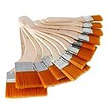 12 × Holz Olgemälde Pinsel Set Künstler Acryl Aquarellfarbe Künstlerpinsel Werkzeug