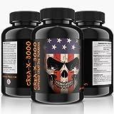 CREA-X-3000 Bufferd Creatine Formula - 300 Tabletten für 50 Tage Kur | Hochdosiert | (Creatine Alkalyn) | Hardcore Formel | solider und trockener Muskelaufbau + Ersatz für Steroide | Premium Qualität