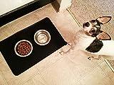 Napfunterlage Katze, AUKO Haustier Futtermatte für Hund und Katze Premium Silikon Schwarz