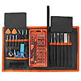 Blingco 78 in 1 Precision Schraubendreher Set, Electronic Repair Tool Kit, Magnetic Driver Kit für iPad, iPhone, Gläser, Laptops, PC, Smartphones, Uhren, Tablets und andere Geräte mit Portable Box