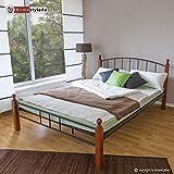 Homestyle4u Metallbett 140 x 200 Bettgestell Doppelbett Bettrahmen + Lattenrost 915 schwarz