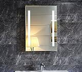 Dr. Fleischmann LED-Beleuchtung Badspiegel Badezimmerspiegel GS055N Lichtspiegel Wandspiegel Tageslichtweiß IP44 (40 x 60 cm)