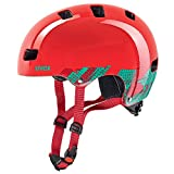 Uvex Kinder Fahrradhelm Kid 3, Blackout Red, 51-55, 4148190815