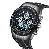 Herren, Herren Sport Armbanduhr 98 ft Wasser Beständig Fashion Outdoor Analog Digital Militär Hintergrundbeleuchtung Datum Multifunktions-Uhr