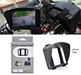 Sonnenschutz Visier für Motorrad oder Fahrrad Navigationsgerät Navi Sat Nav Mit 5'' oder 4,3'' LCD Screen Anti-Glare GPS mit sicherer und robuster Armband passend Design aus Digicharge® Von Digital Accessories Ltd