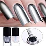 coulorbuttons 6 ml UR Zucker Nagellack Lack + Base Coat Sets Metallic Chrome Nagellack