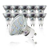 LED Lampe | GU10 10er Set | LED Birne 3 Watt | Glühbirne 250 Lumen | Leuchtmittel ersetzt Halogen 30 Watt | warmweiss 3000K | Abstrahlwinkel 110°